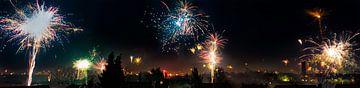 Vuurwerk boven voedsel van Martin Haunhorst