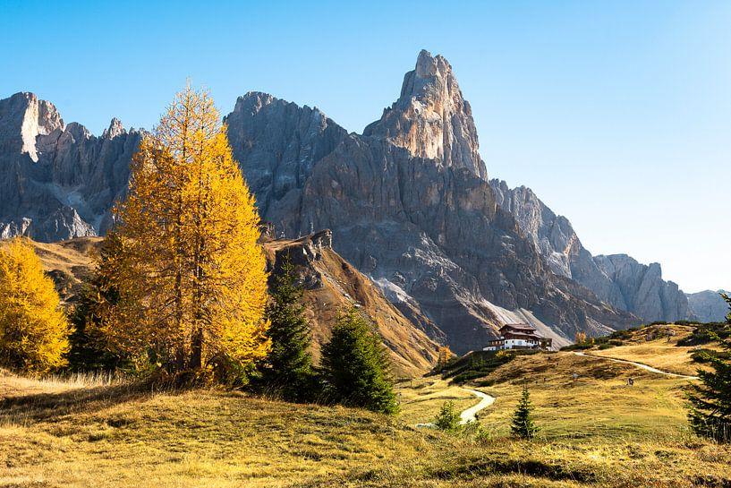 Herbstfarben in der Italienische Dolomiten von Rob IJsselstein