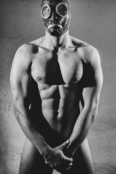 Hele mooie naakte man met sterk gespierd lichaam. #0021 van william langeveld