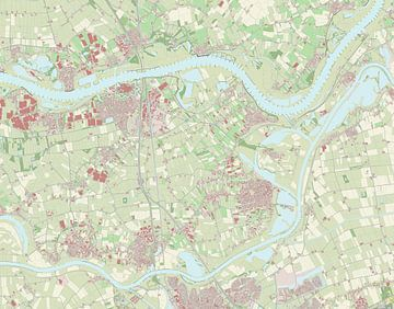 Kaart vanMaasdriel