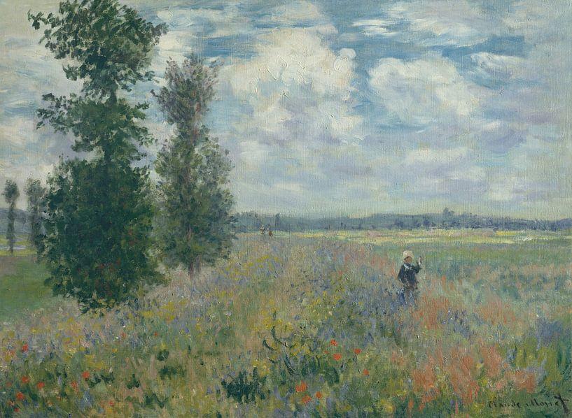Poppy Fields près de Argenteuil, Claude Monet sur Meesterlijcke Meesters