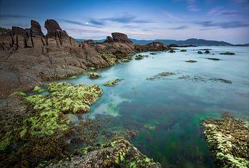 Rotskust , Asturie, Noord-Spanje van Jeroen Kleverwal