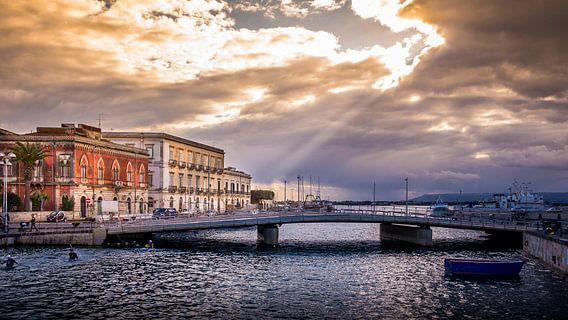 Ortigia, Siracusa, Sicilie van Cine Prem