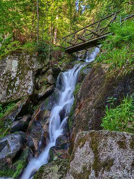 Brücke über den Wasserfall von Uwe Ulrich Grün