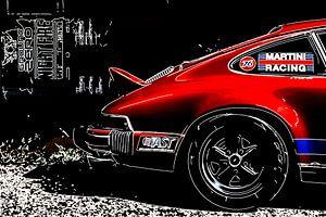 Klassische Porsche Outline