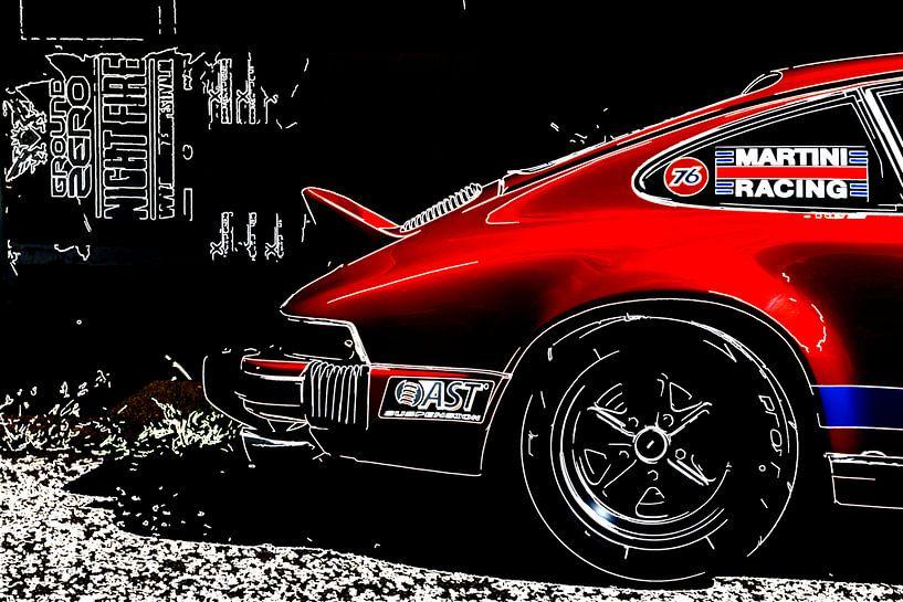 Klassische Porsche Outline von 2BHAPPY4EVER.com photography & digital art