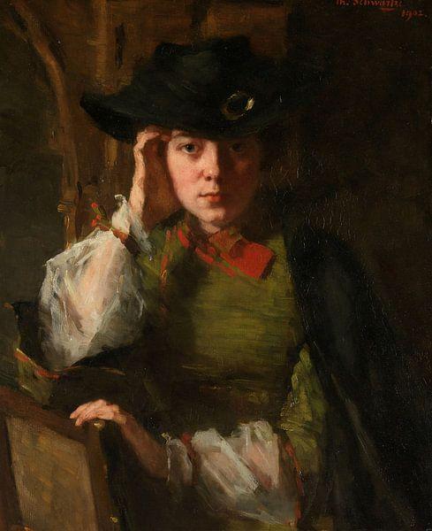 Porträt von Lizzy Ansingh, Thérèse Schwartze von Meesterlijcke Meesters