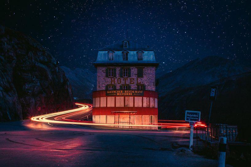 Hotel Belvedere, Schweiz von Vincent Ronden