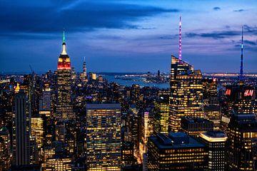 Nachtfoto van New York van Vivo Fotografie