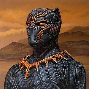 Schwarz Panther Gemälde