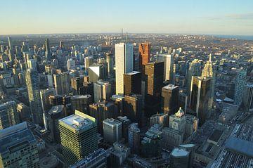 Toronto skyline van boven van Farzad Madjdian