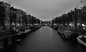 Amsterdam bevroren gracht van Richard de Nooij