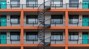 Gitter der bunten Galerie flach von Patrick Verhoef