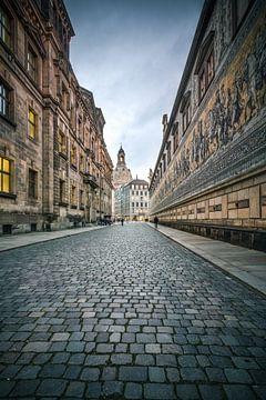 Fürstenzug Dresden, Sachsen, Deutschland von Munich Art Prints