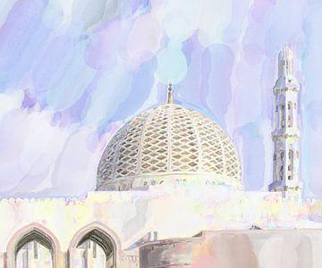 Koepel van de grote moskee van Muscat van Frank Heinz