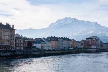 De prachtige stad Grenoble in Frankrijk van