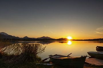 Sonnenuntergang am Hopfensee von