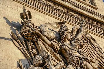 détail de l'image sur l'arc de triomphe à paris sur Eric van Nieuwland