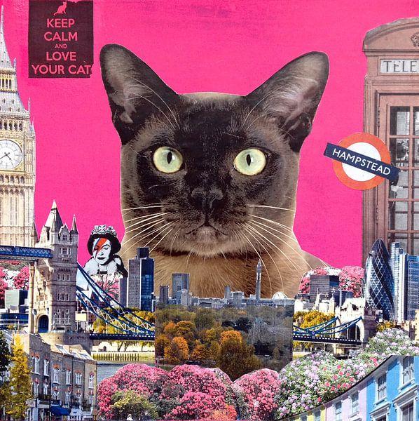 Urban cat, 2015, (mixed media) van Anne Storno