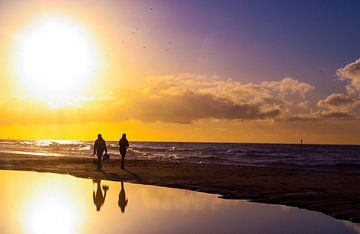 Zon aan zee van