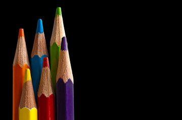Canvas van gekleurde tekenpotloden van Jeroen Jonker