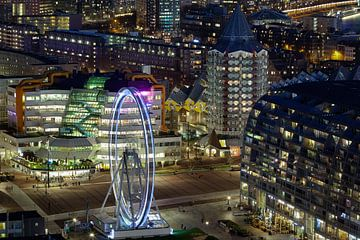 Prachtige blik op Blaak - Rotterdam van