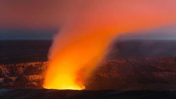 Kilauea Caldera, Hawaii Volcanoes National Park van Henk Meijer Photography