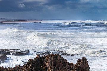 Storm aan de kust van videomundum