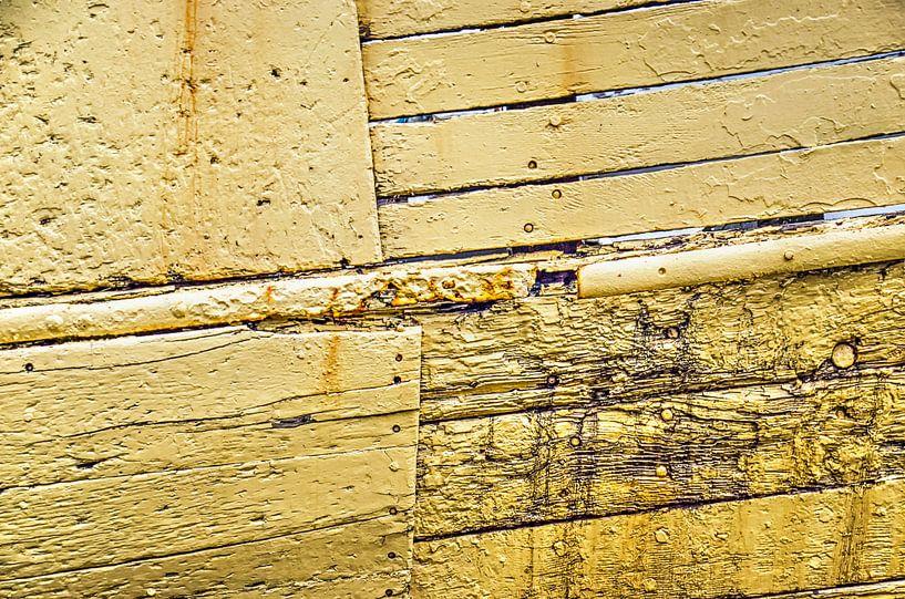 Verwitterten gelben Schiffsrumpf von Frans Blok