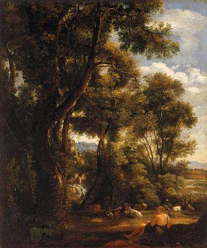 Paysage avec un chevrier et des chèvres, John Constable sur