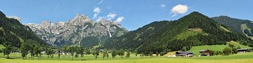 Panorama -  Alpes Autriche van Christine Nöhmeier