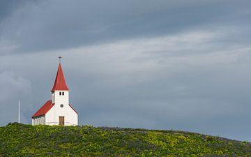 Kerk in Vik i Myrdal van Daan Kloeg