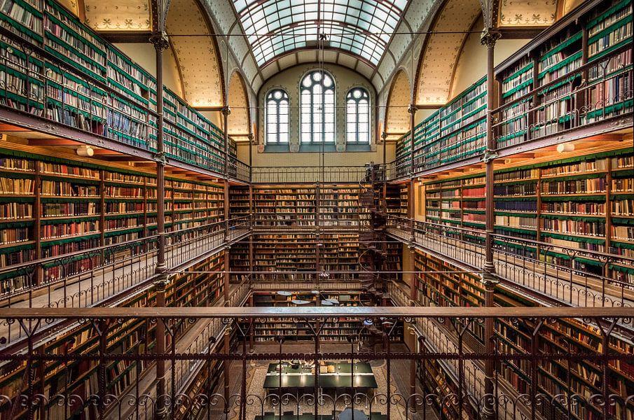 Bibliotheek rijksmuseum van mario visser op canvas behang en meer - Muur bibliotheek ...