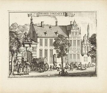 Blick auf das Herenlogement in Haarlem, Romeyn de Hooghe