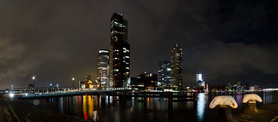 Rijnhavenbrug naar Wilhelminapier Rotterdam, panorama