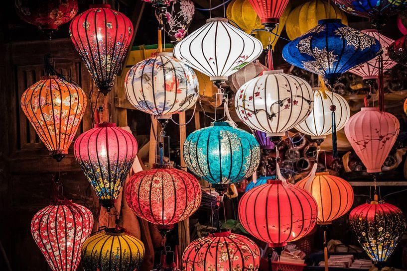 Lampionen in Vietnam Hoi An van Manon Ruitenberg