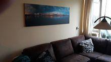 Klantfoto: Skyline Zutphen van Vladimir Fotografie, op canvas