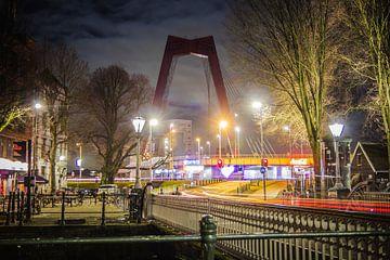 Rotterdam bei Nacht - Willemsbrug von Suzan van Pelt