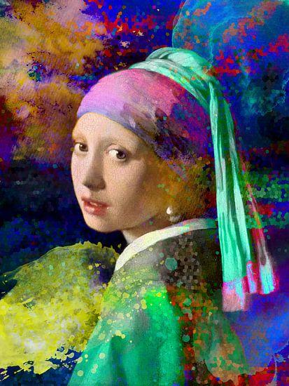 Meisje met de parel / Girl with a Pearl Earring Abstract