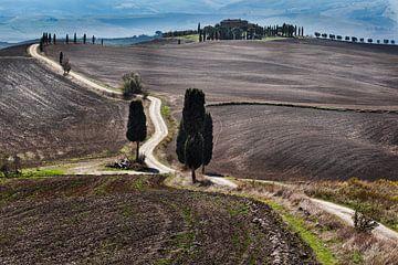 Het Gladiator landschap in Toscane von Roy Poots