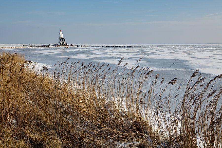 Winters landschap van Bart van Dinten