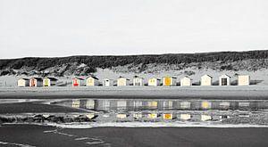 Spiegeling strandhuisjes