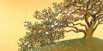 Zerstreuung der Kamelienblütenblätter, Gyoshū Hayami