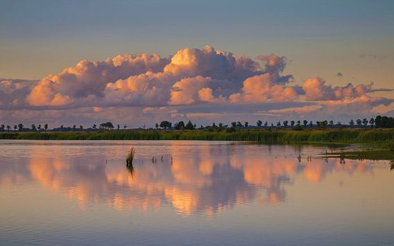 Wolken boven het Dannemeer Slochteren