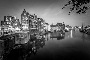 Delfshaven - Rotterdam in zwart-wit van Roy Poots