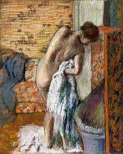 Nach dem Bad (Frau trocknet sich ab) , Edgar Degas (ca. 1886)