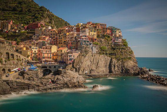 Manarola Cinque Terre Italy van Rene Ladenius