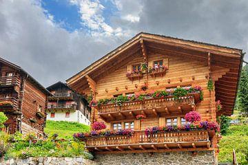 Chalet in Grimentz Zwitserland von Dennis van de Water
