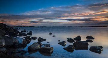 Sonnenaufgang aus dem Grevelingenmeer  von Ricardo Bouman