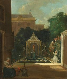 Een Amsterdamse stadstuin, Cornelis Troost